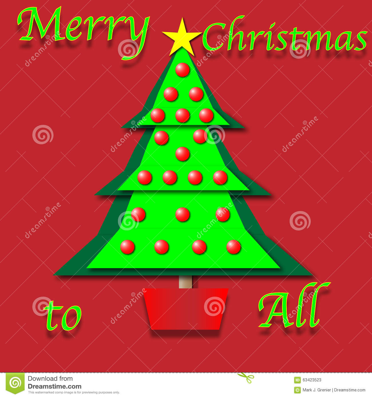 download paper cutout christmas tree stock illustration illustration of graphic xmas 63423523