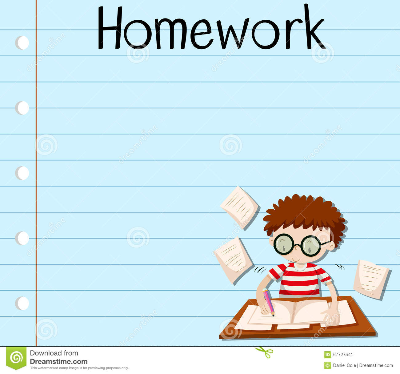 https://thumbs.dreamstime.com/z/paper-design-boy-doing-homework-illustration-67727541.jpg