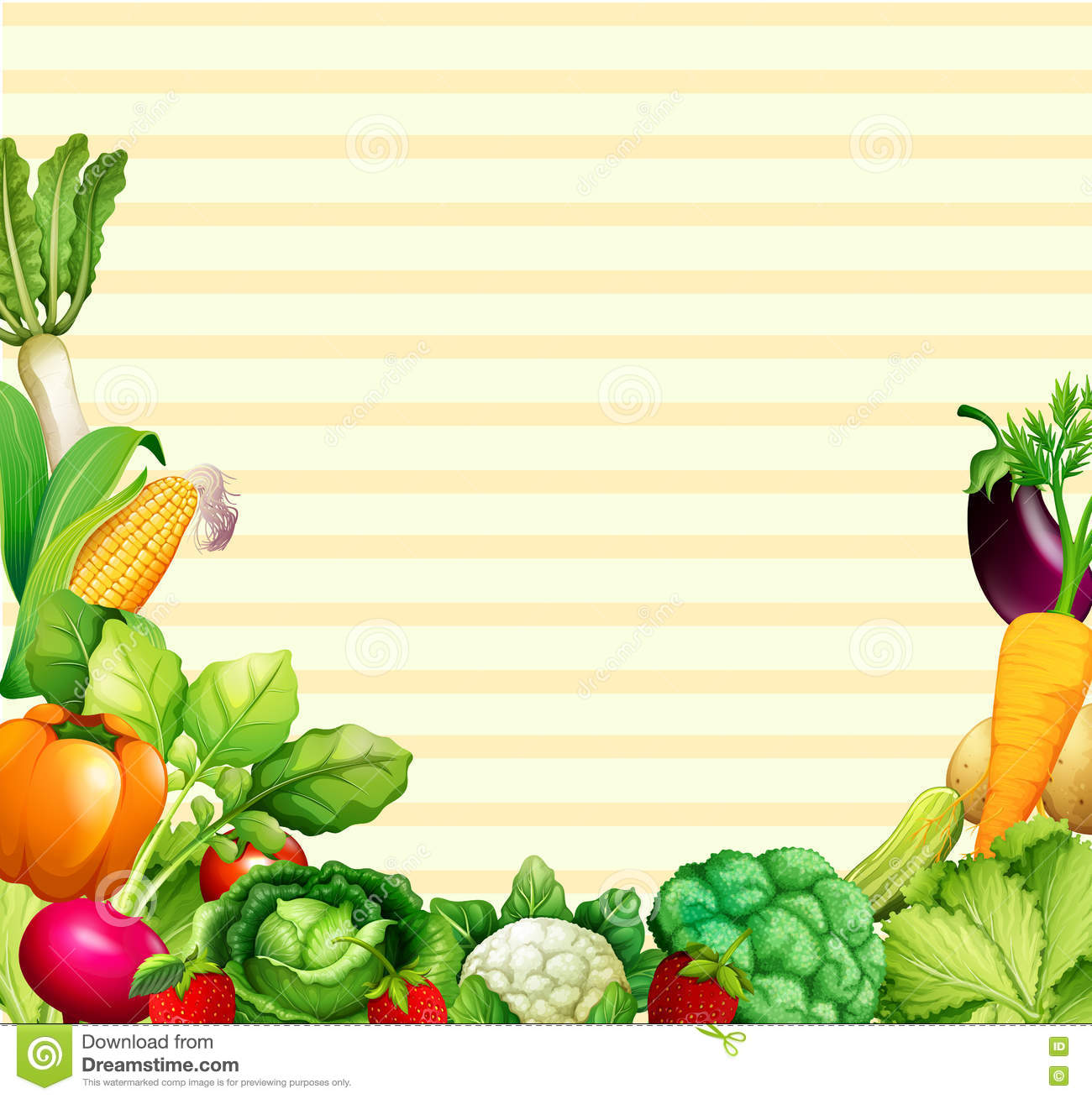 Paper design with vegetables and fruits stock vector for Vegetable design