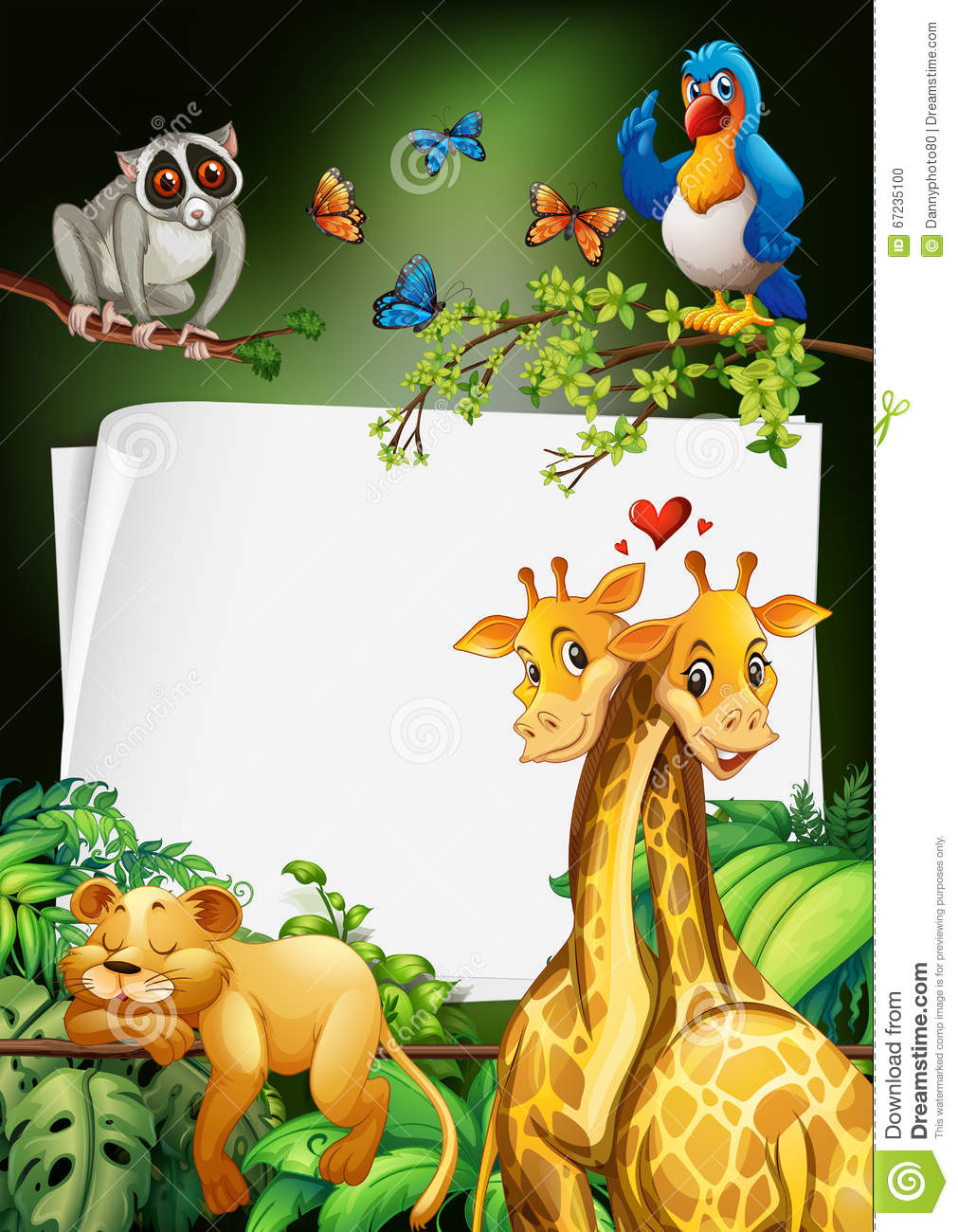 Paper design with wild animals background stock for Wild design