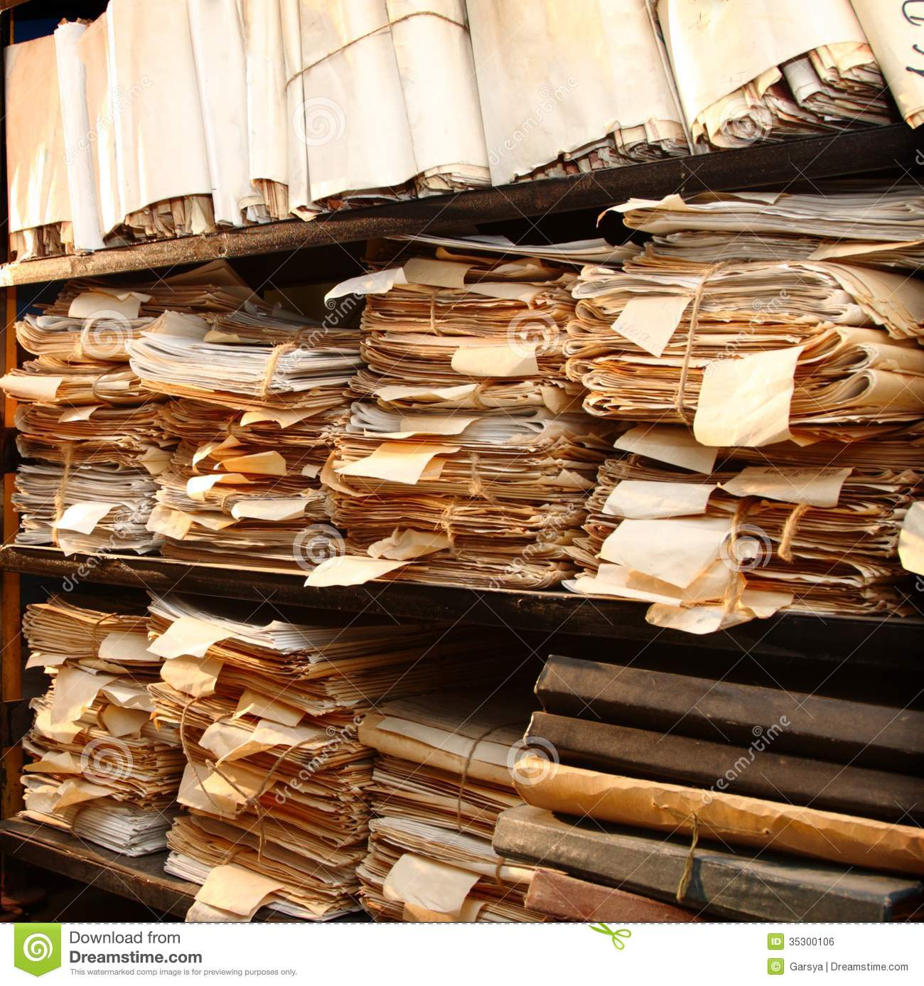 Paper Documents In Archive Royalty Free Stock Photo - Image: 35300065