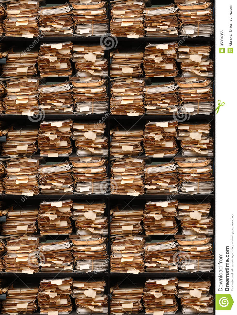 Paper Documents Stacked In Archive Royalty Free Stock Image ...