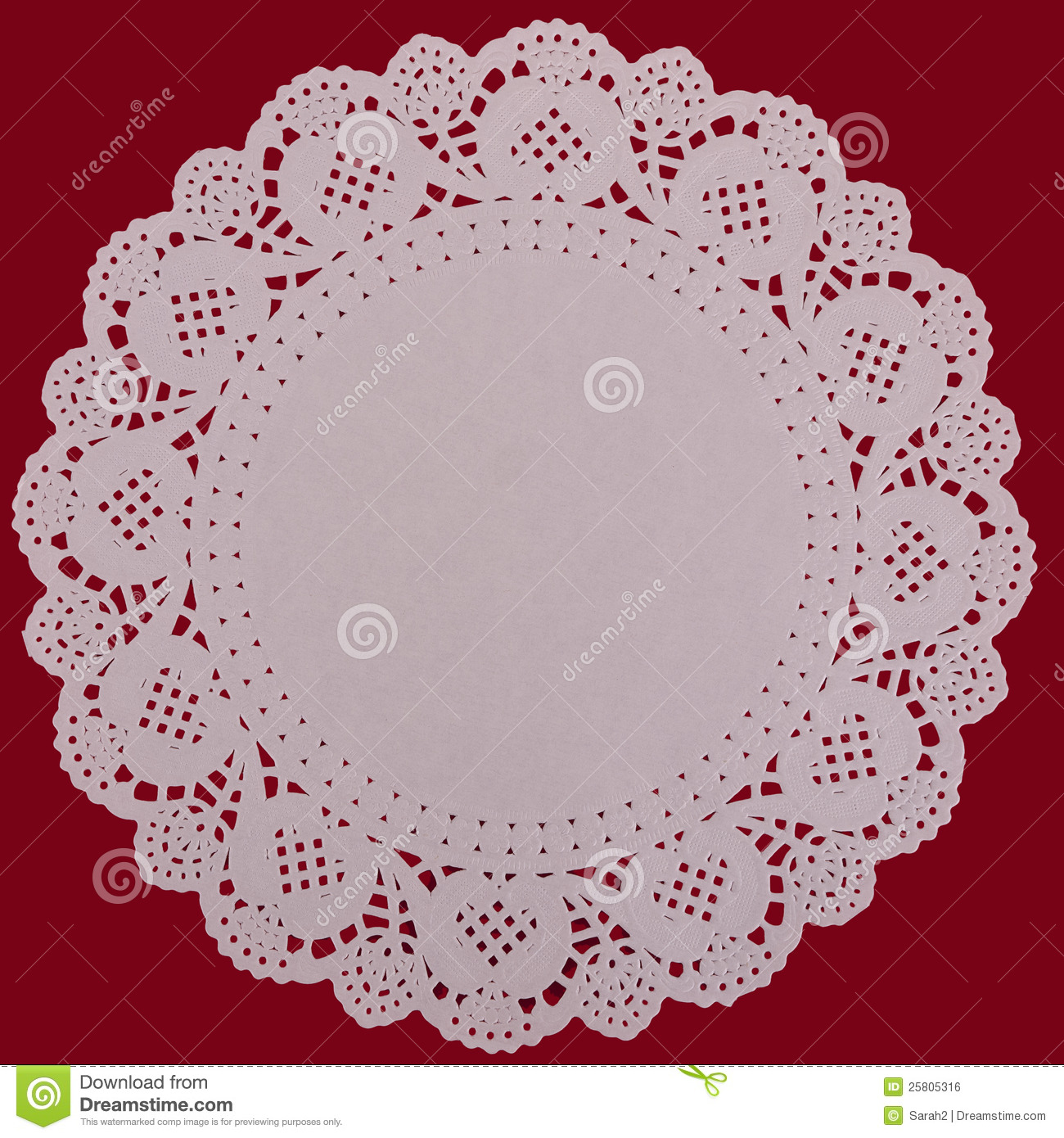 Paper Doily Lacy Background Over Red Stock Photo Image Of Festive