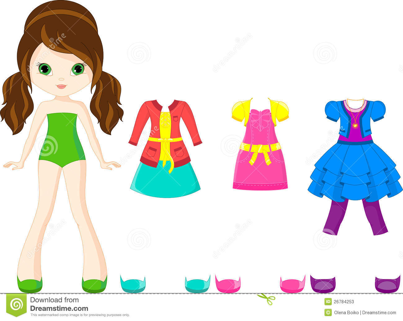 Paper Doll Stock Photos - Image: 26784253
