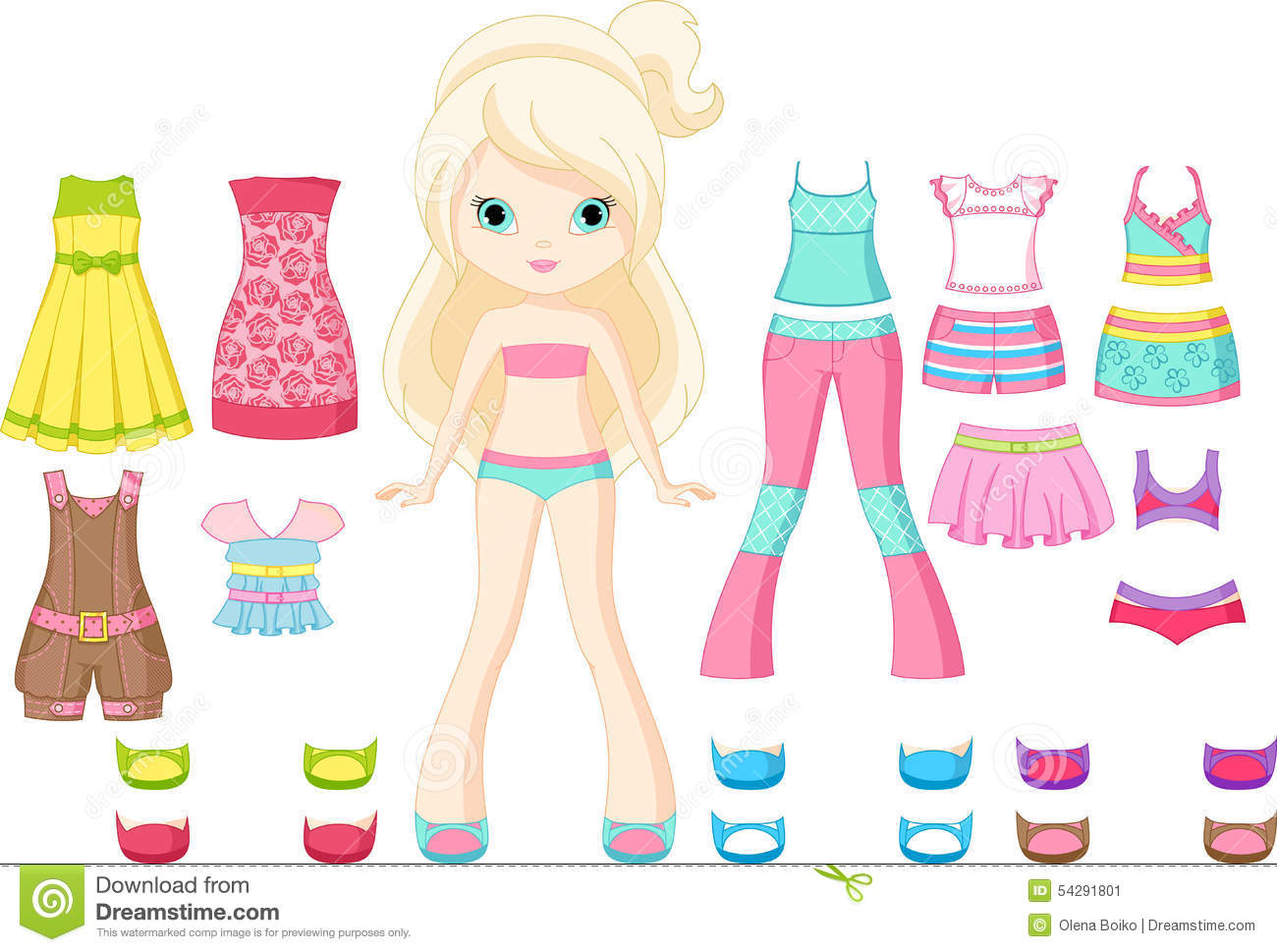 Paper Doll Stock Vector - Image: 54291801