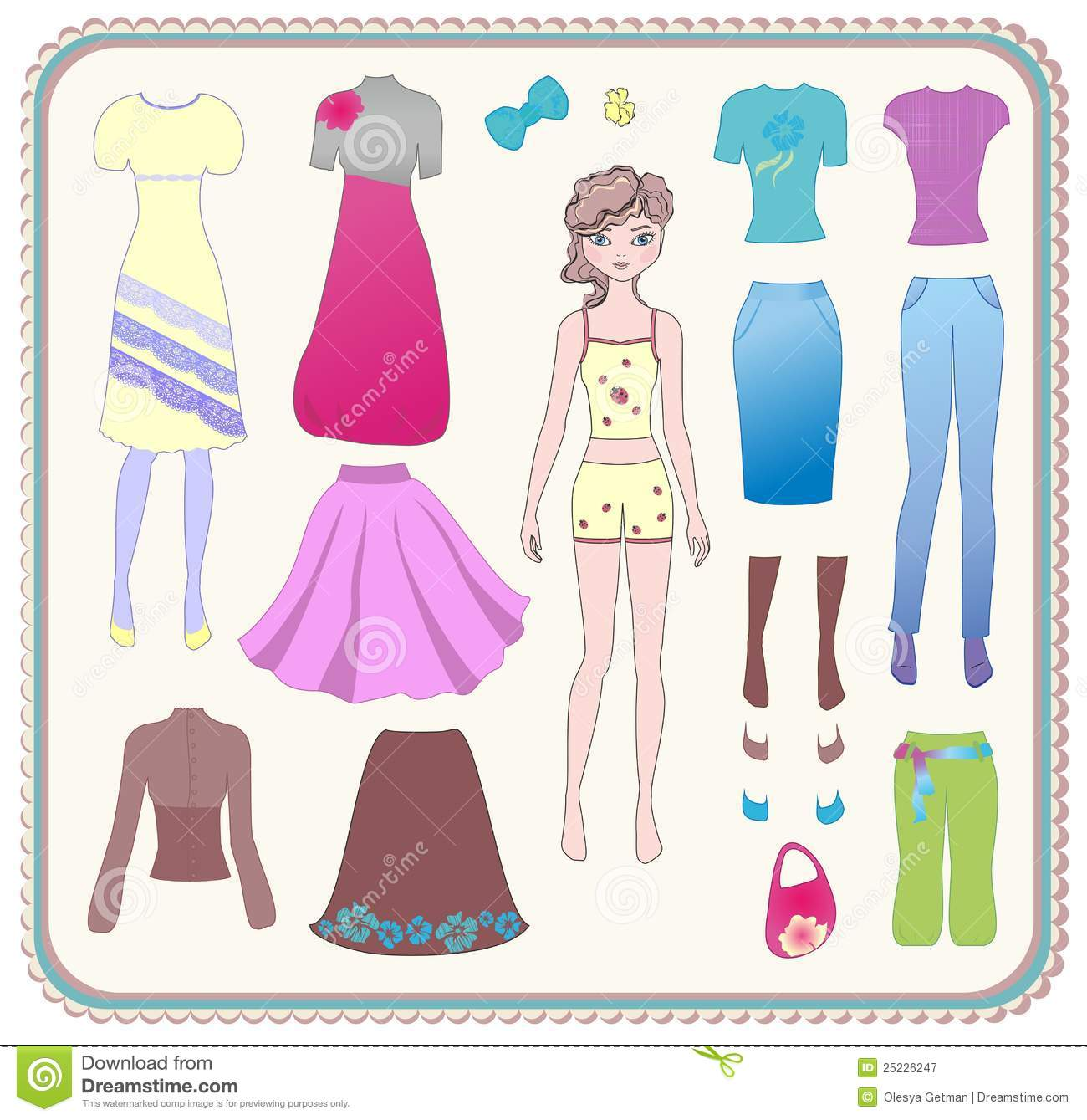 Paper Doll With Clothes Royalty Free Stock Photography - Image ...
