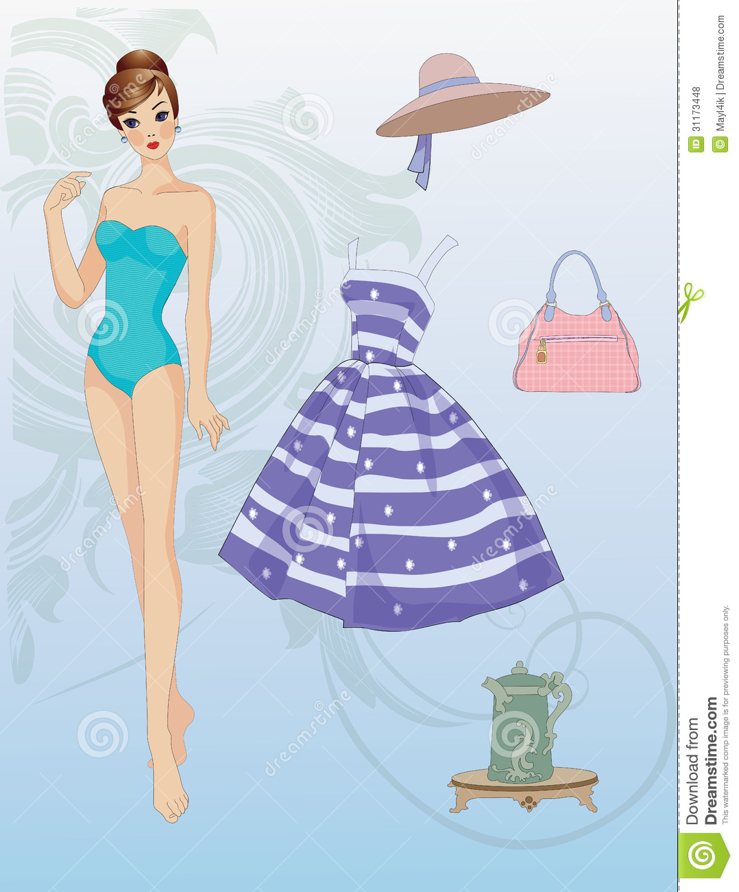 Paper Doll With Clothes Royalty Free Stock Photos - Image: 31173448