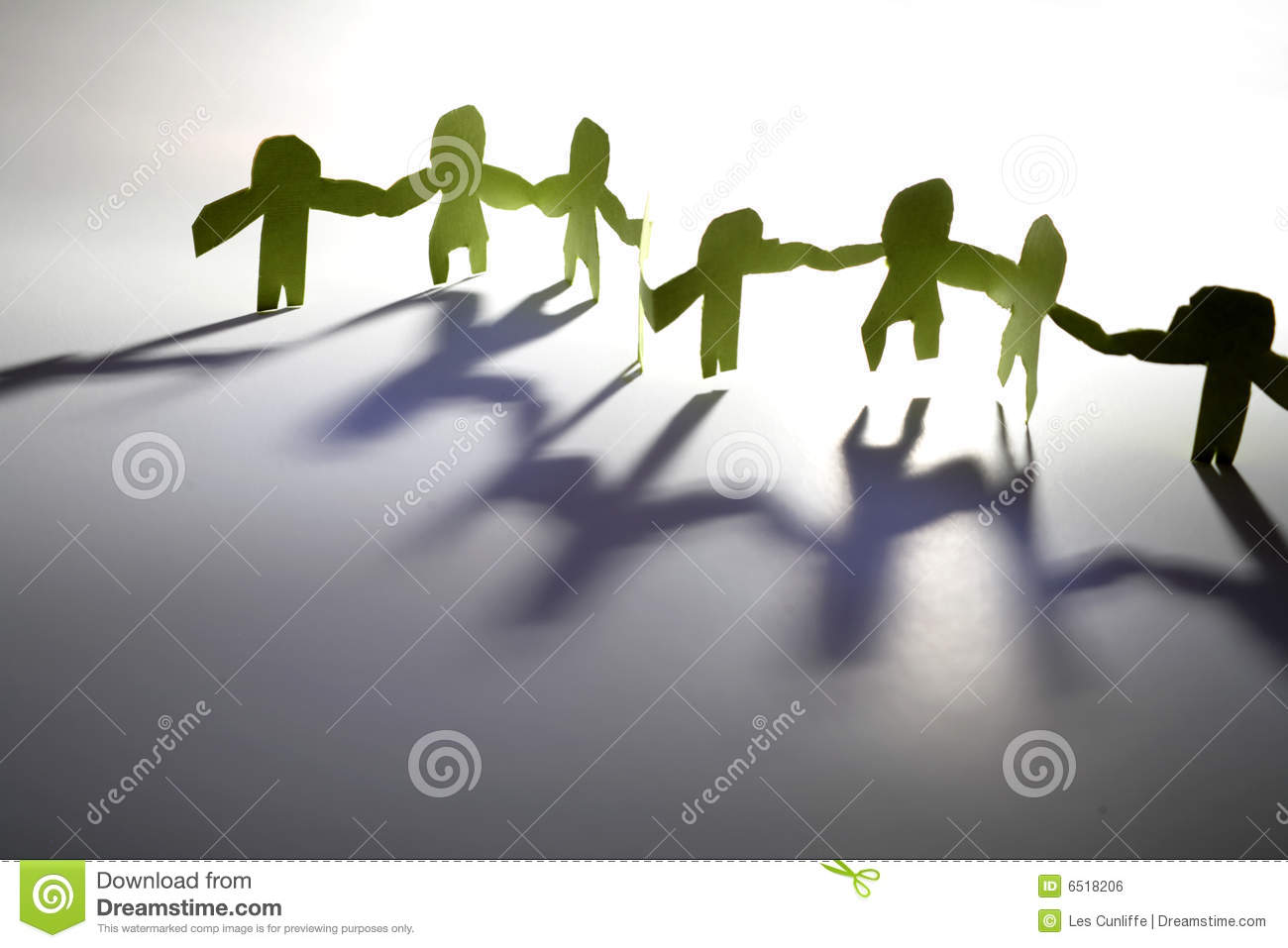 Paper Doll Cutouts Stock Photo Image Of Teamwork Player