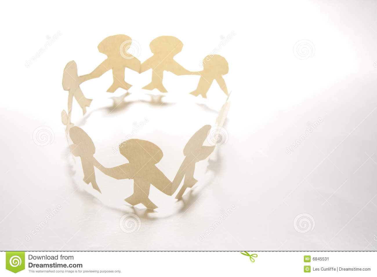 Paper Doll Family In Circle