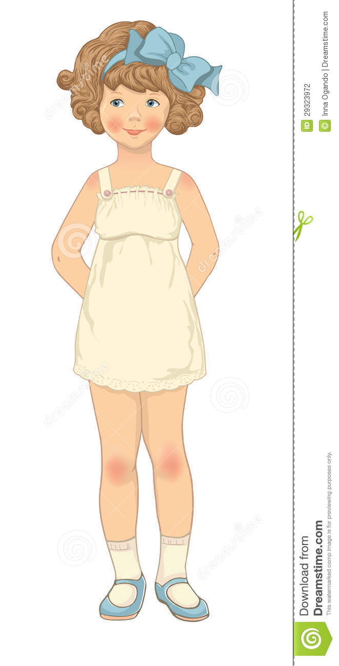 Paper Doll Girl Body Template Stock Photography Image