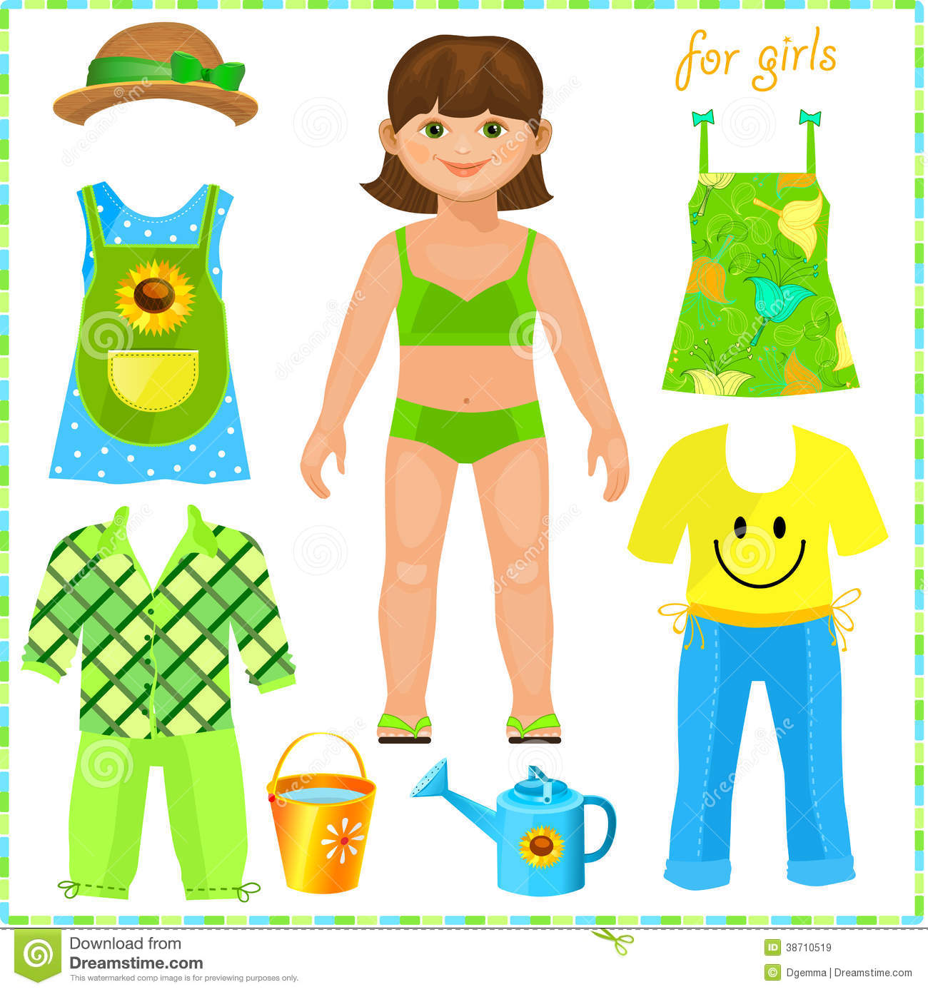 Paper Doll With A Set Of Sport Clothes. Royalty Free Stock Images ...