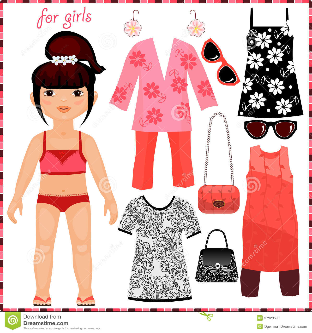 how to make doll clothes with paper