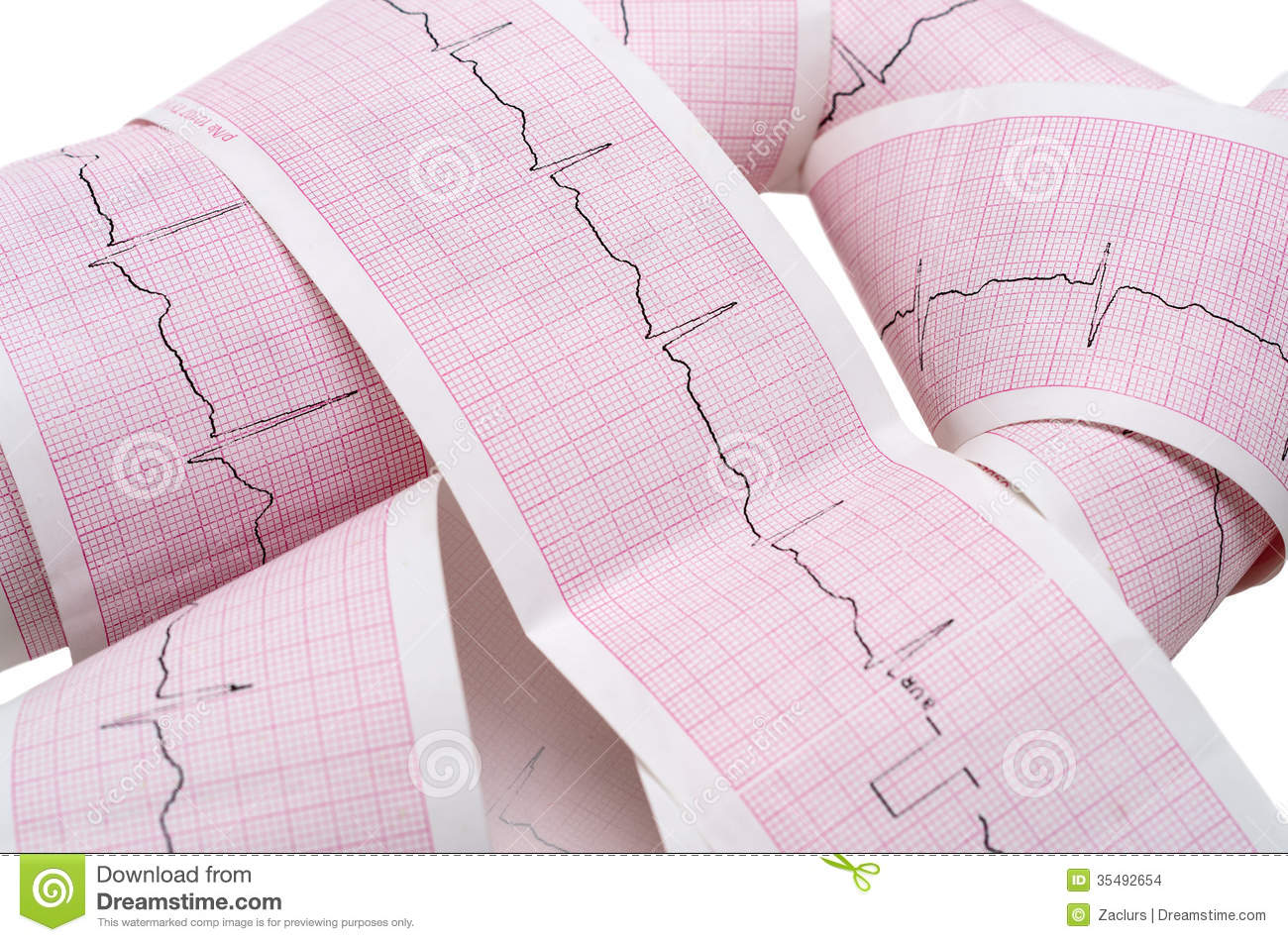 Paper ECG Graph With Heartbeat Pulse Stock Images - Image: 35492654