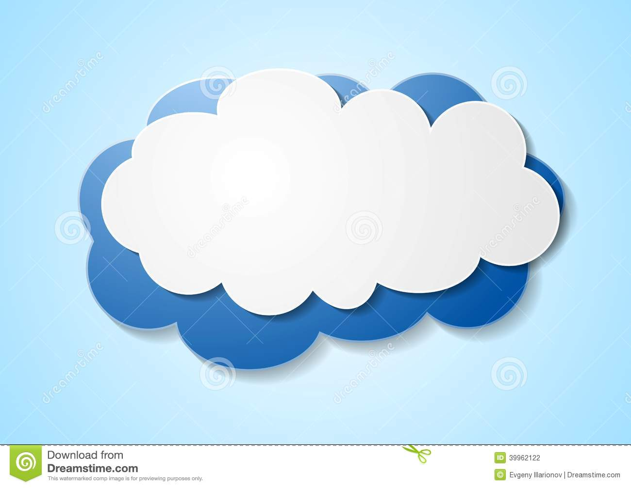 Paper elegant cloud sticker stock vector image 39962122 for How to make a paper cloud