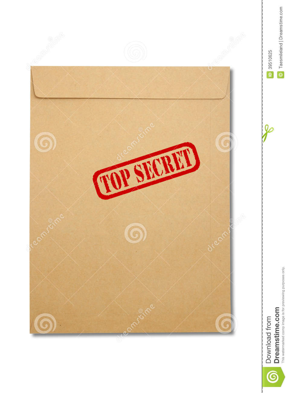 Paper Envelope isolated