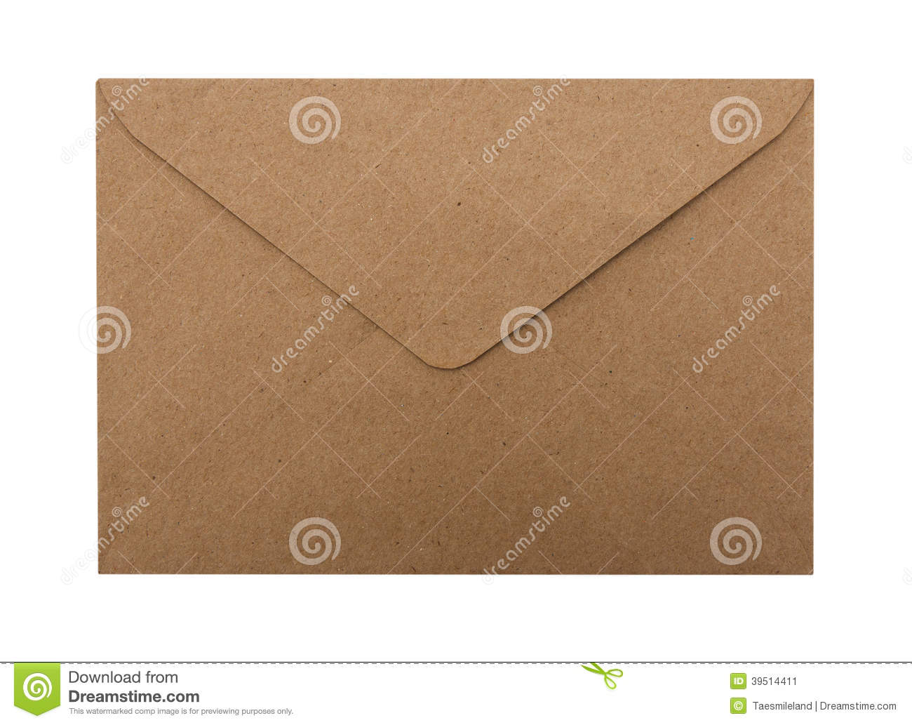 Download Paper Envelope isolated stock image. Image of concept - 39514411