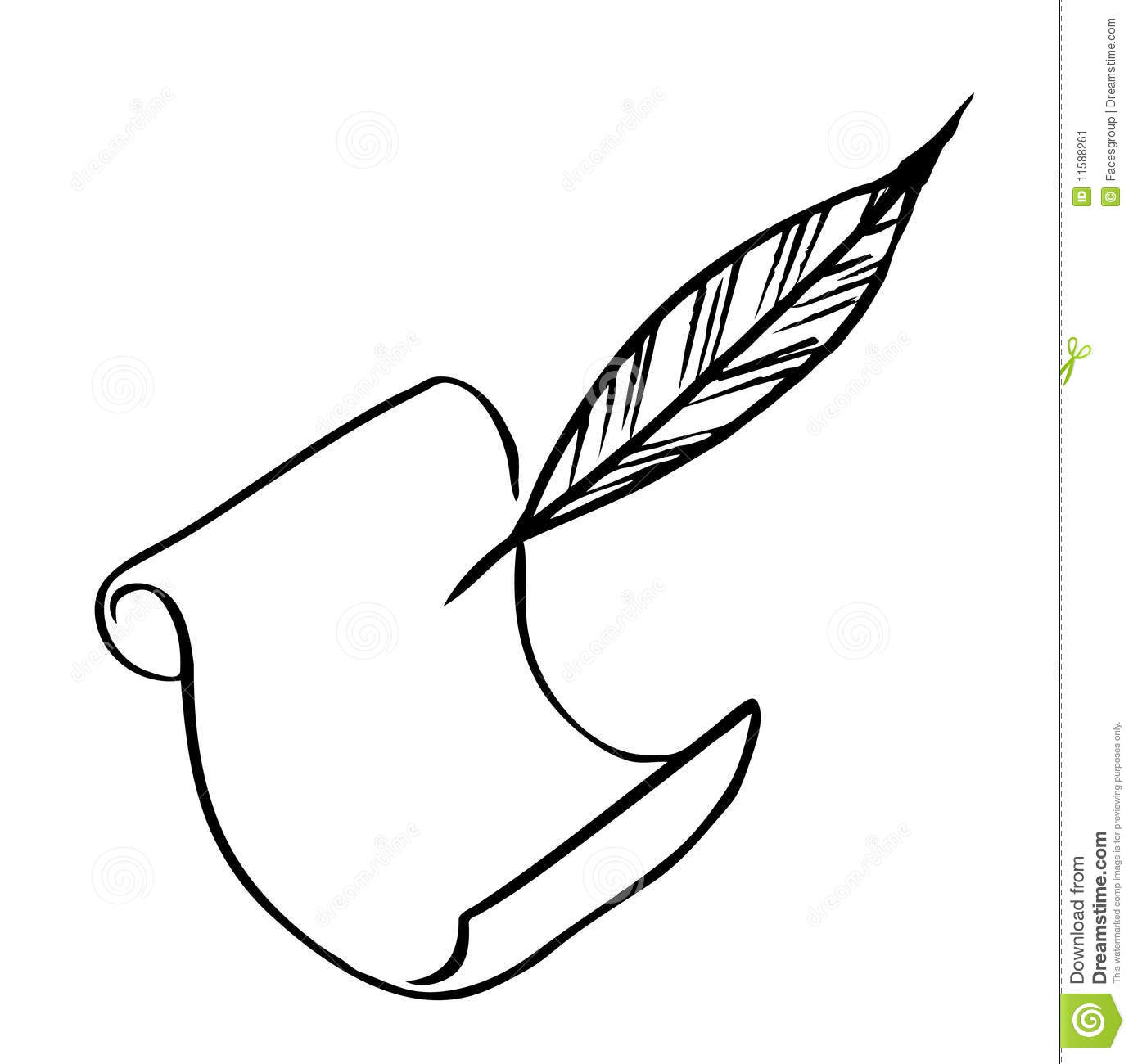 Paper With Feather (Ve...