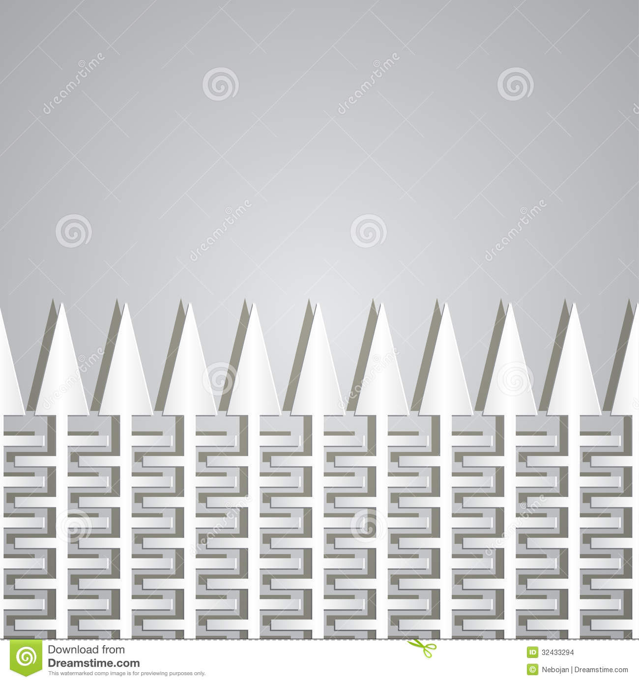 Picket Fence Cut Out