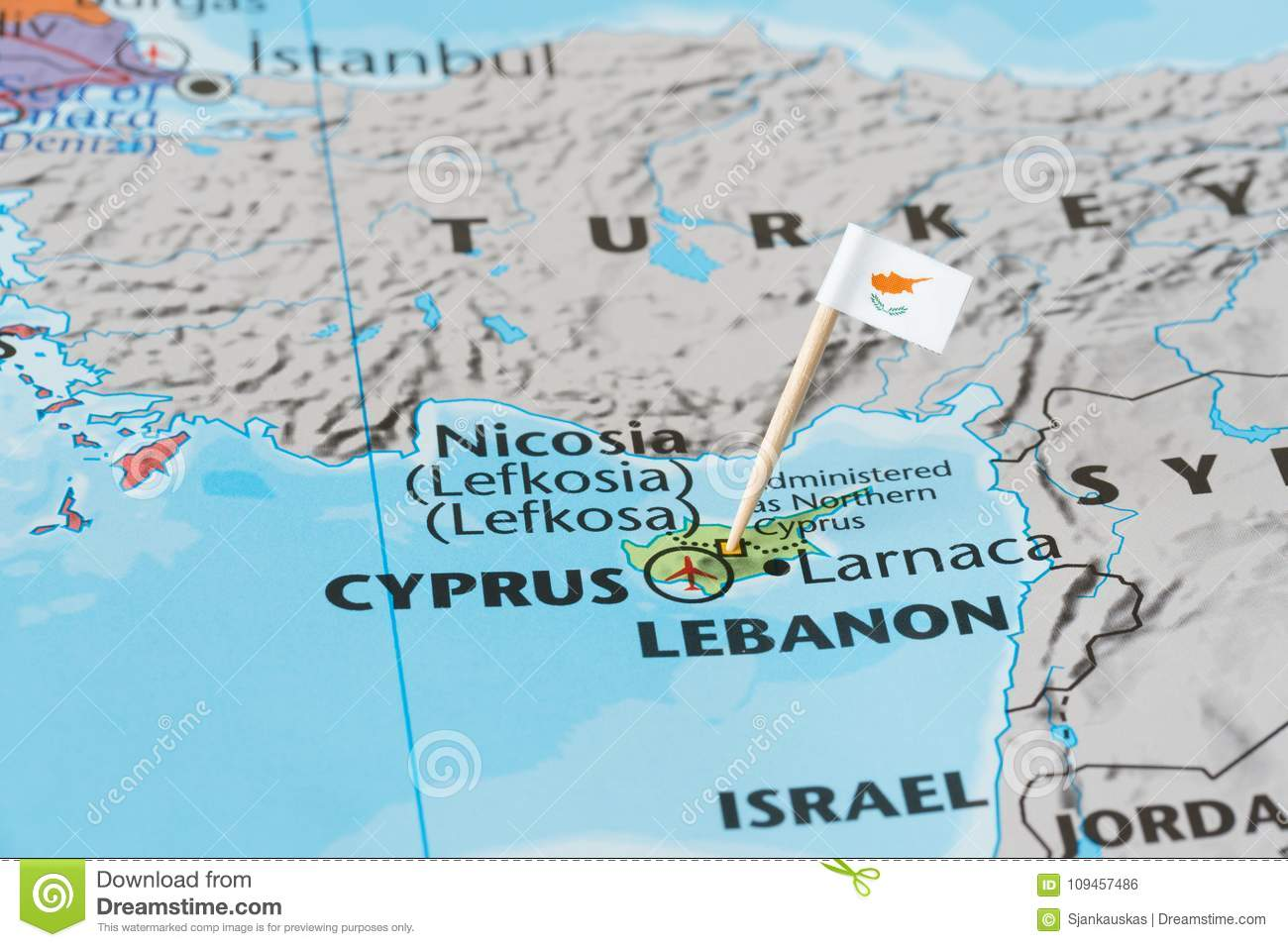 Cyprus map and flag pin stock photo image of lefkosia 109457486 cyprus map and flag pin gumiabroncs Image collections
