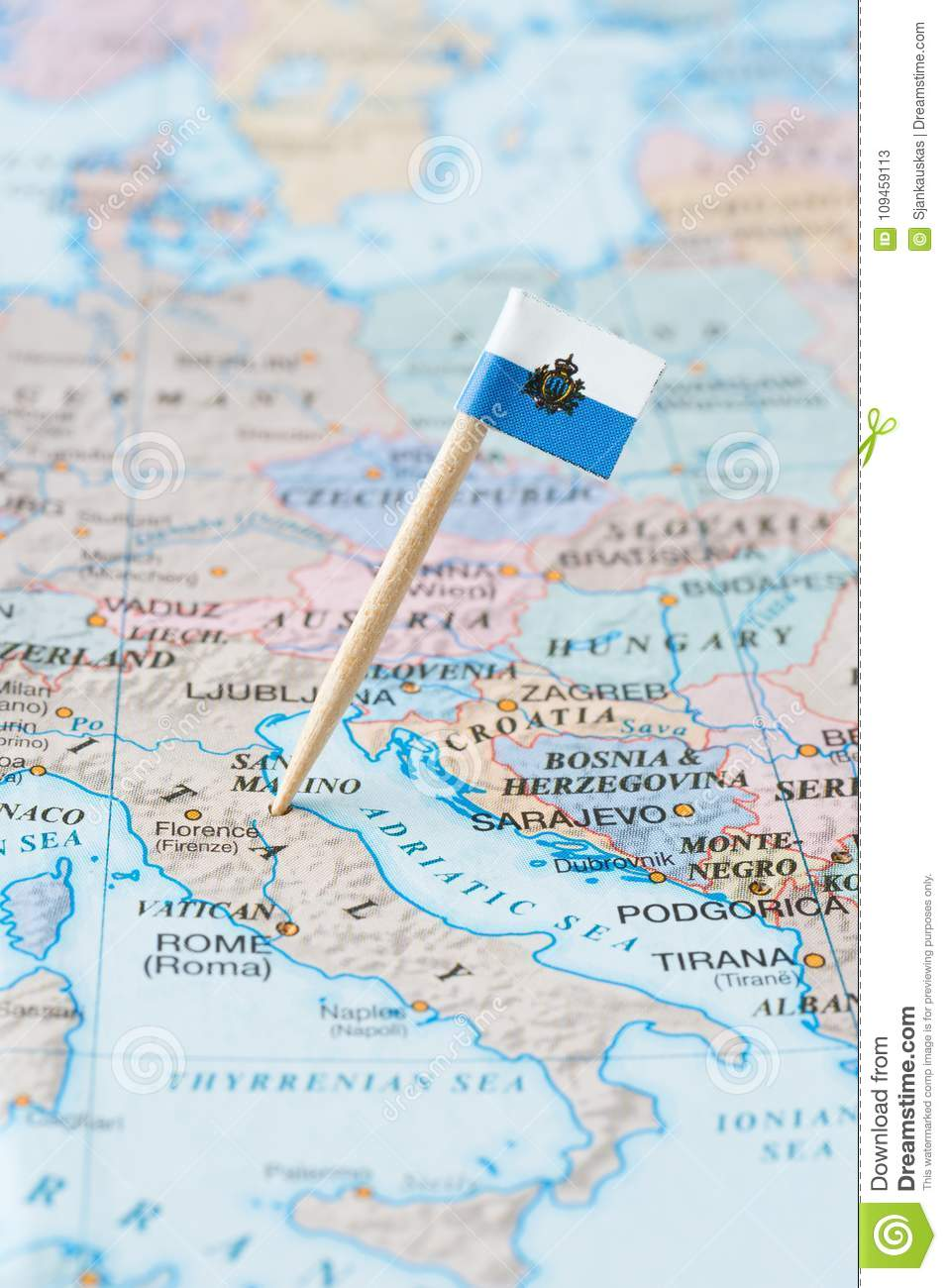 San Marino Map And Flag Pin Stock Image - Image of adriatic ... on tuvalu on world map, palau on world map, japan on world map, uzbekistan on world map, malta on world map, estonia on world map, andorra on world map, slovenia on world map, djibouti on world map, luxembourg on world map, serbia on world map, liechtenstein on world map, monaco on world map, brunei on world map, liberia on world map, singapore on world map, vatican city on world map, montenegro on world map, kosovo on world map, liechtenstien on world map,