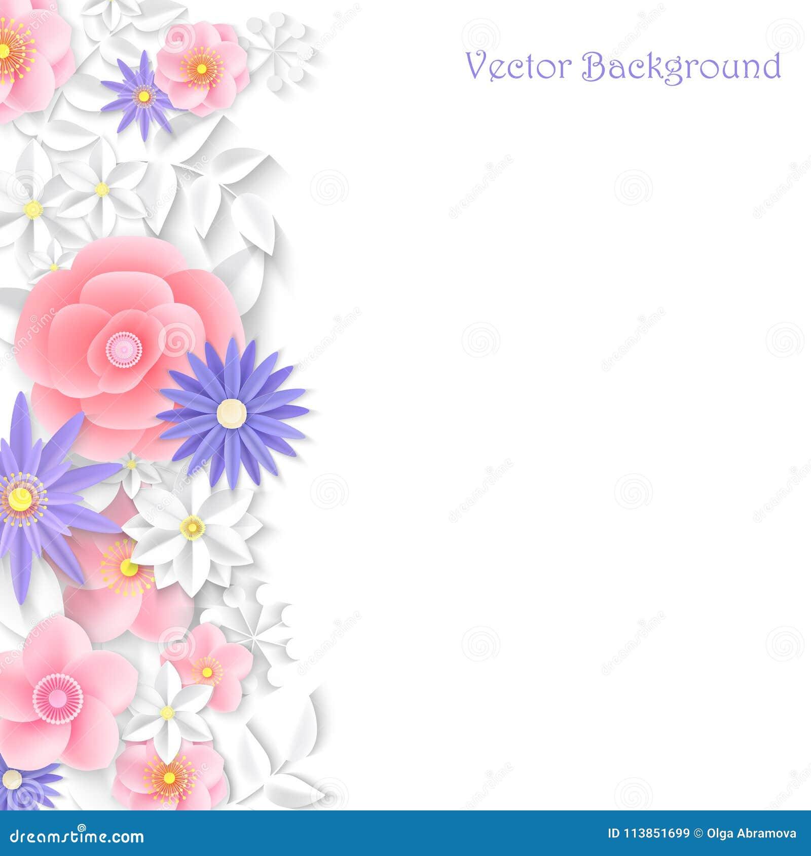 Paper flower background vector illustration stock vector paper flower background vector illustration mightylinksfo