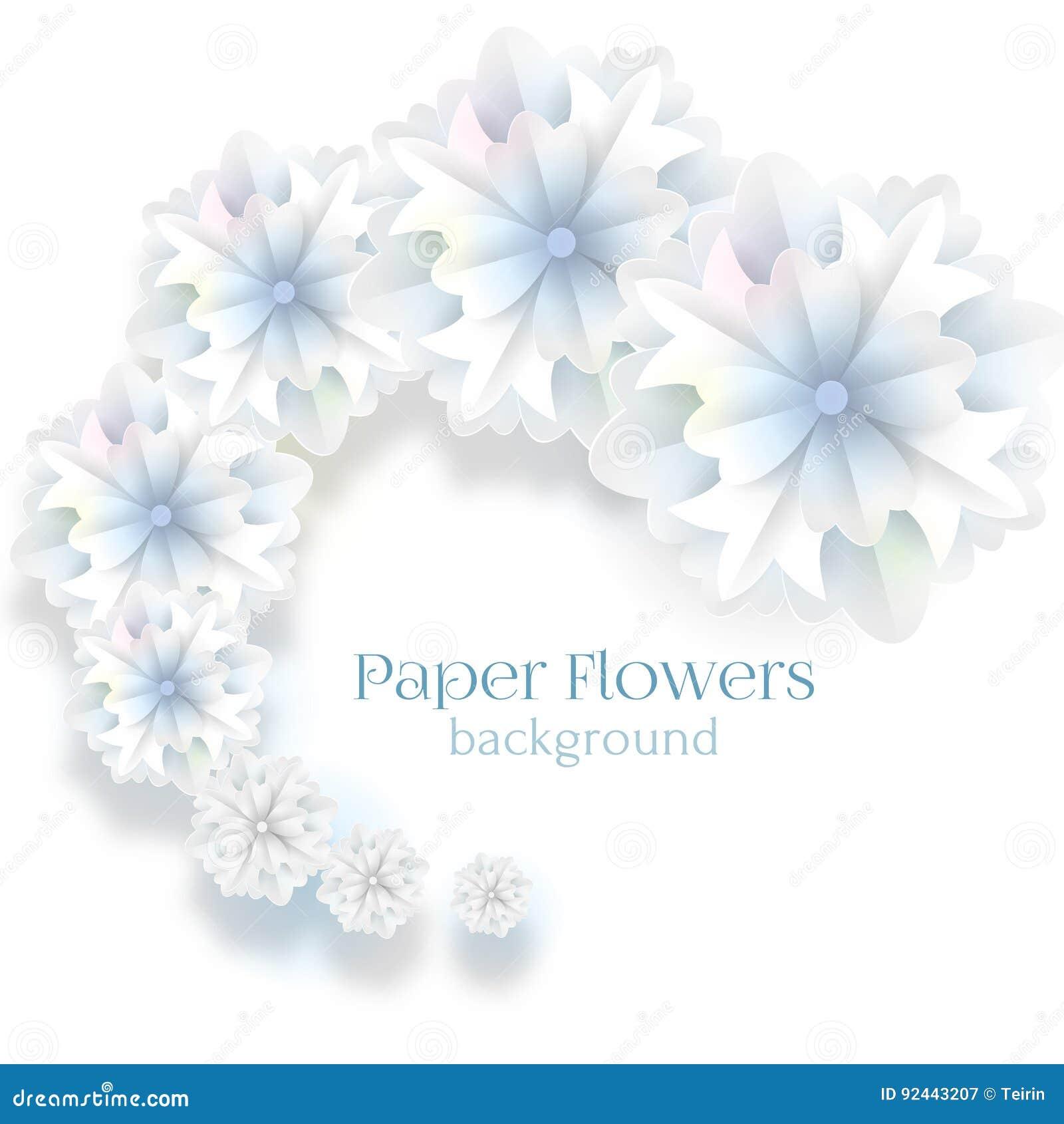 Paper Flower Background Vector Illustration Stock Vector