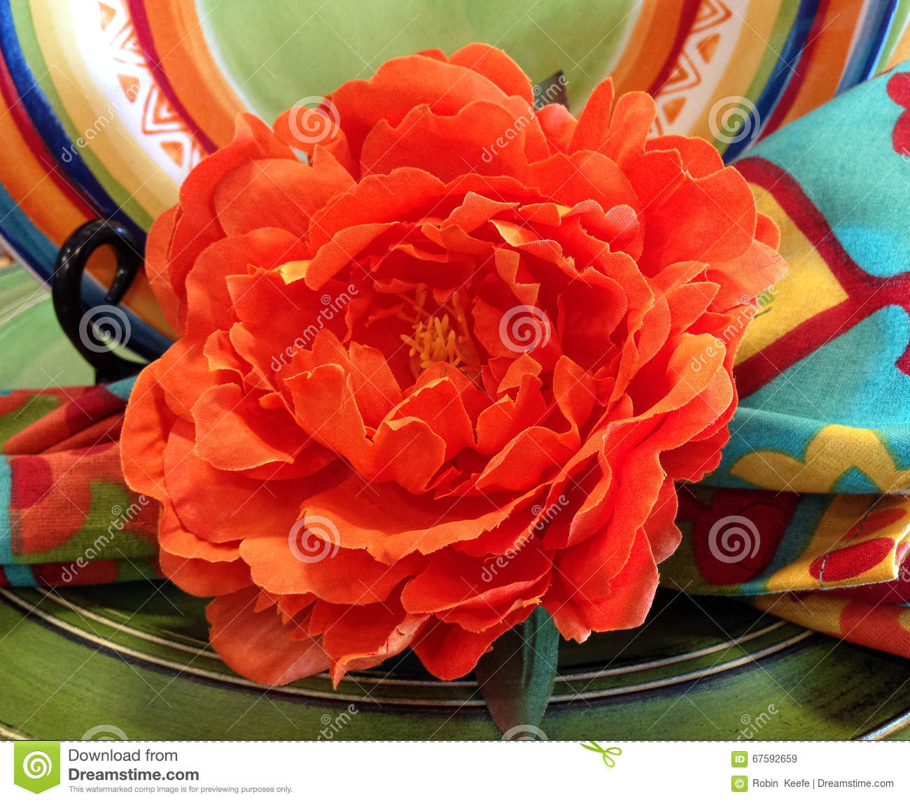Paper Flower For Cinco De Mayo Stock Image Image Of Against