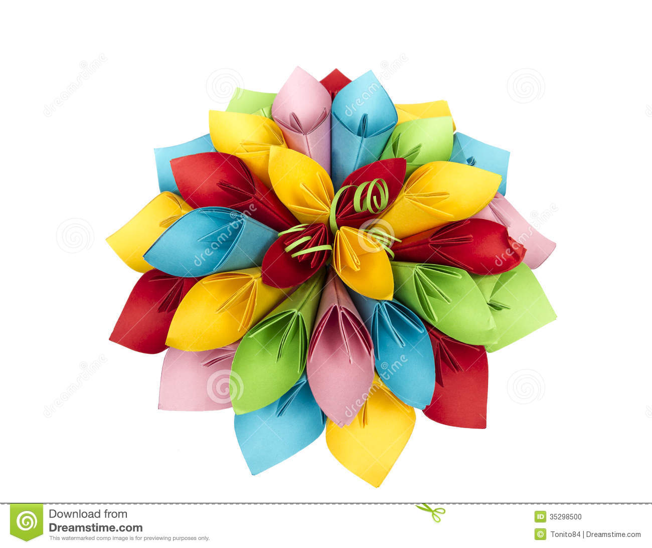 Paper flower color stock photo image of decoration background paper flower color mightylinksfo Choice Image