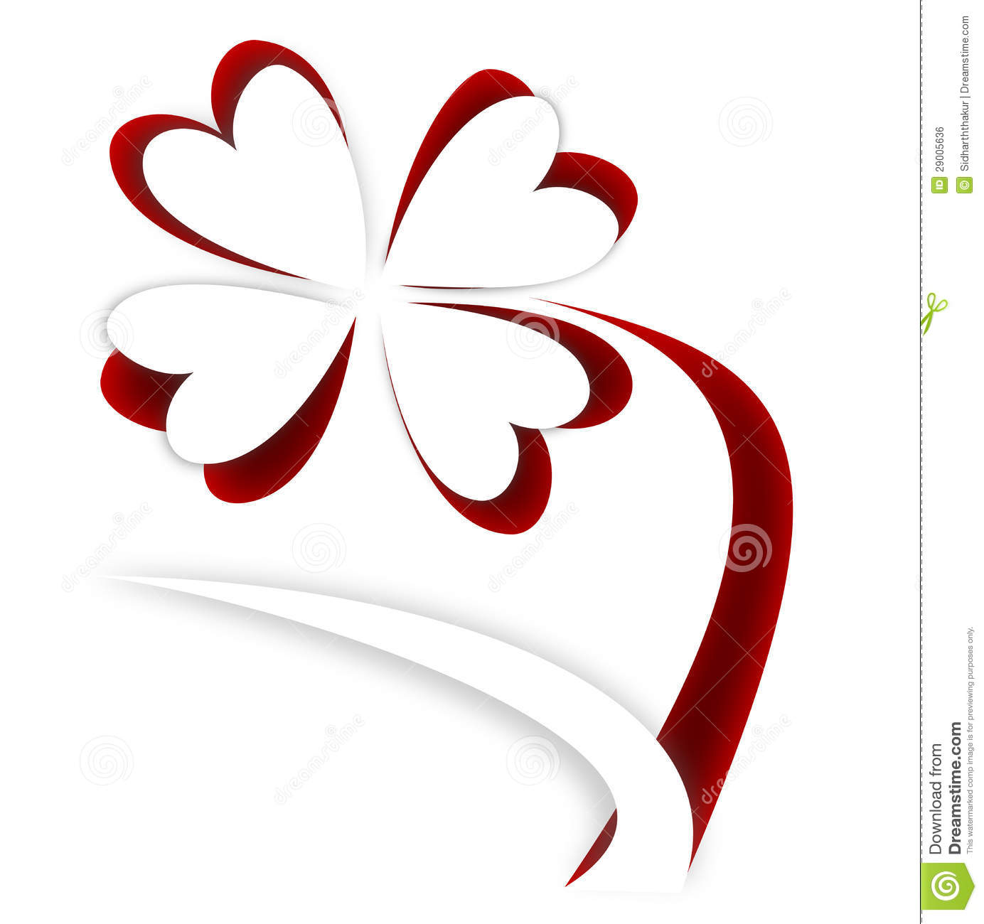Paper Flower Cutout On Red Background Royalty Free Stock