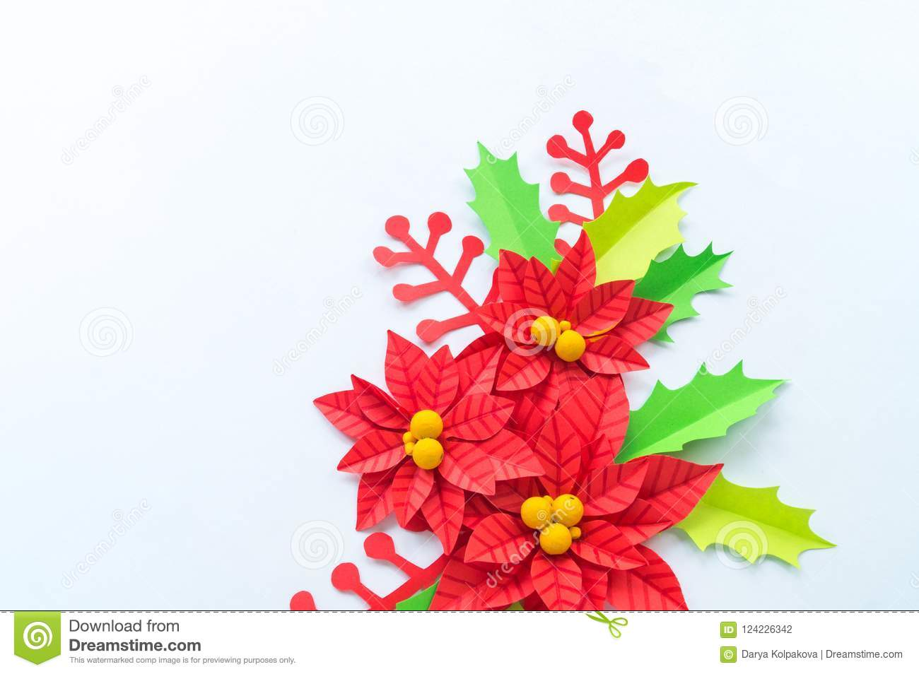 Giant Poinsettia Svg Cutting Files Paper Flower Beautiful