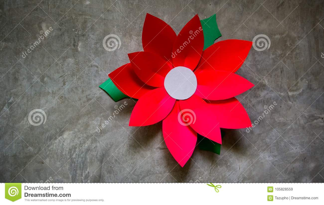 Paper Flower Poinsettias For Christmas Holiday Arrangements And
