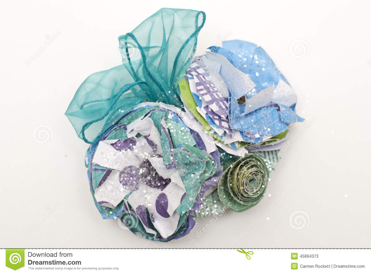 Paper Flower And Ribbon Corsage Stock Illustration Illustration Of