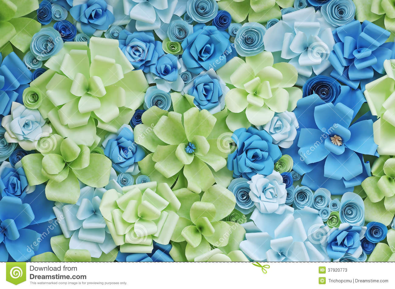 Paper Flowers Background Stock Image Image Of Blue Colorful 37920773