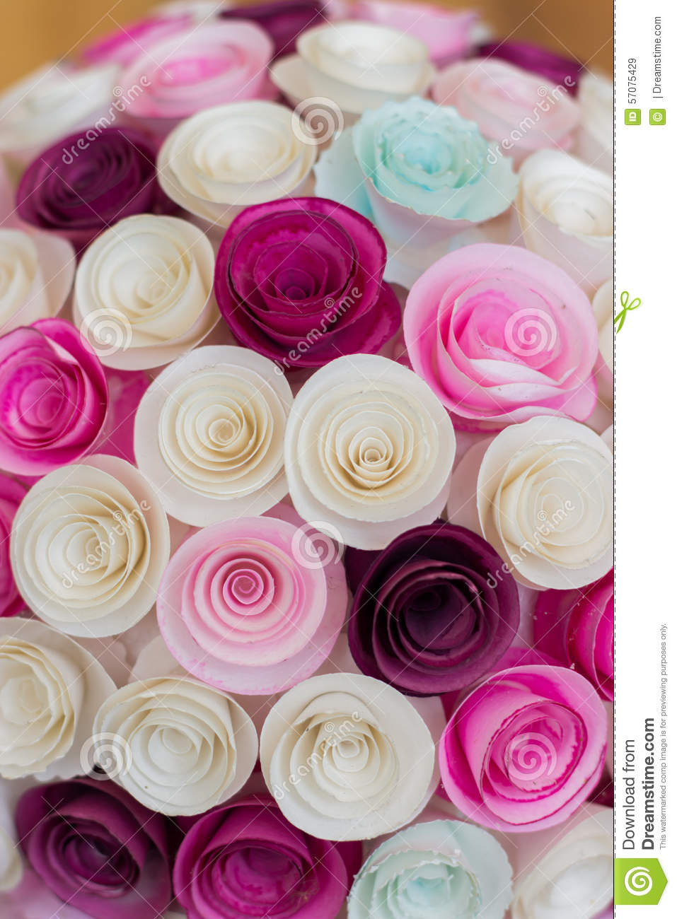 Paper Flowers Ball Stock Image Image Of Purple Origami 57075429