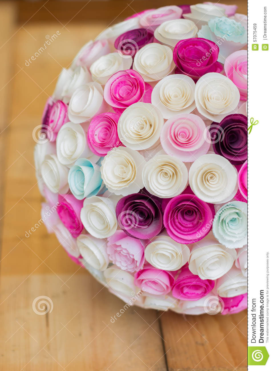 Paper flowers ball stock image. Image of color, bouquet - 57075459
