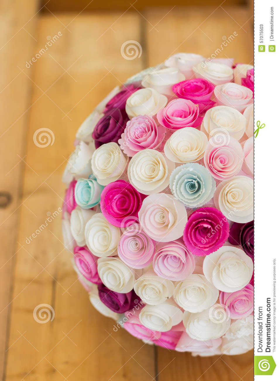 Paper flowers ball stock image. Image of bouquet, origami - 57075503
