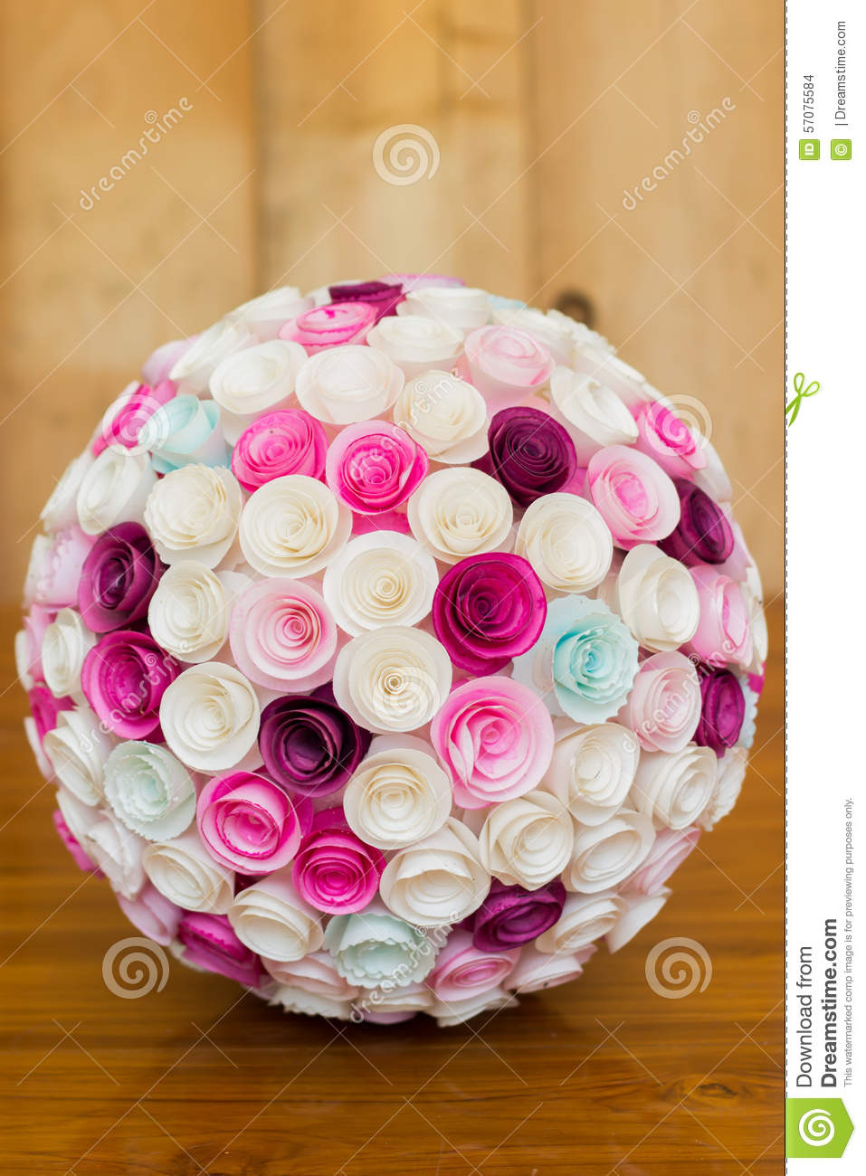 Paper flowers ball stock photo image of natural background 57075584 download comp mightylinksfo