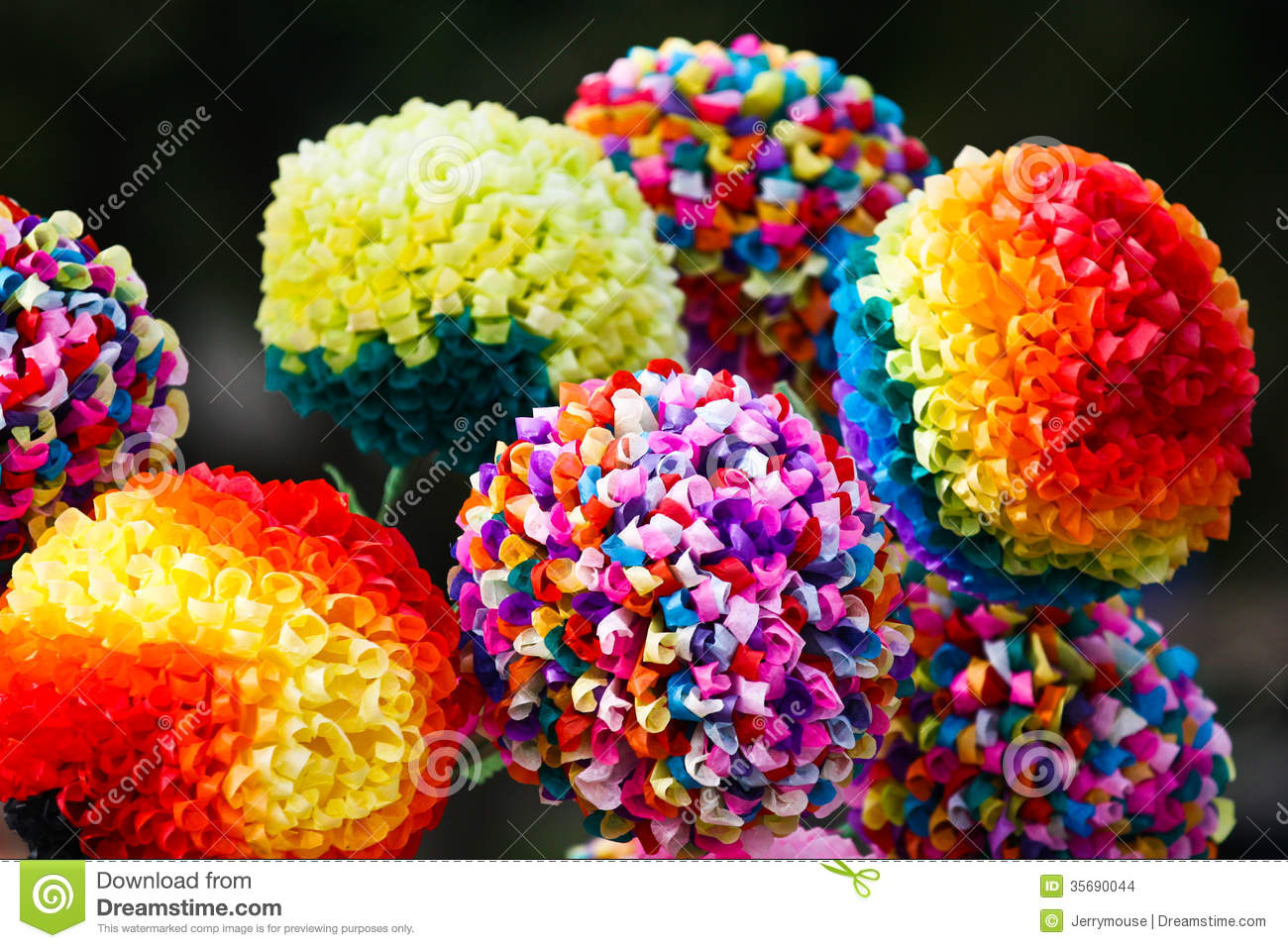 Paper Flowers Stock Photo Image Of Artificial Decoration 35690044