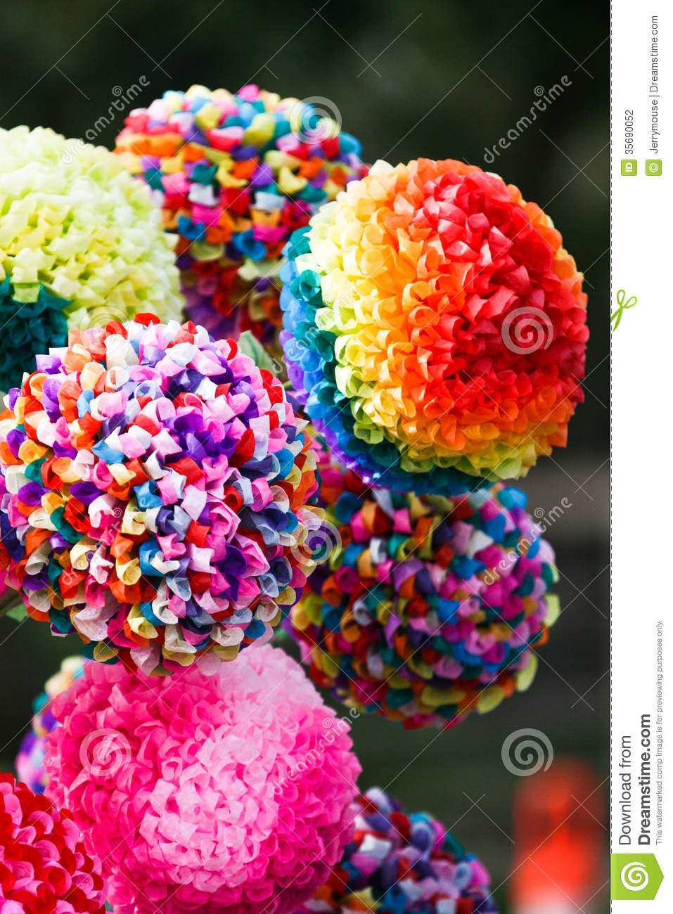 Paper flowers stock photo image of colors dahlia bright 35690052 bouquet of flowers made out of paper mightylinksfo