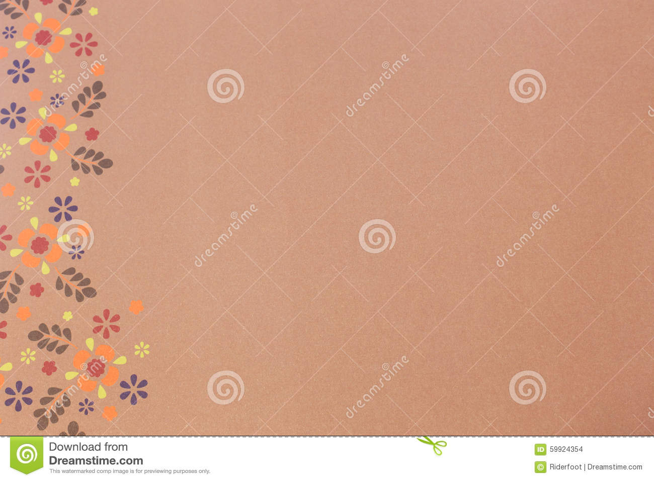 Paper With Flowers For Scrapbooking As A Background Stock