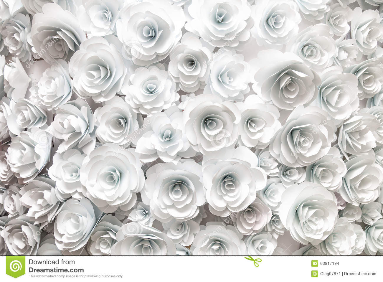 Paper Flowers Stock Photo Image Of Design Element Flower 63917194