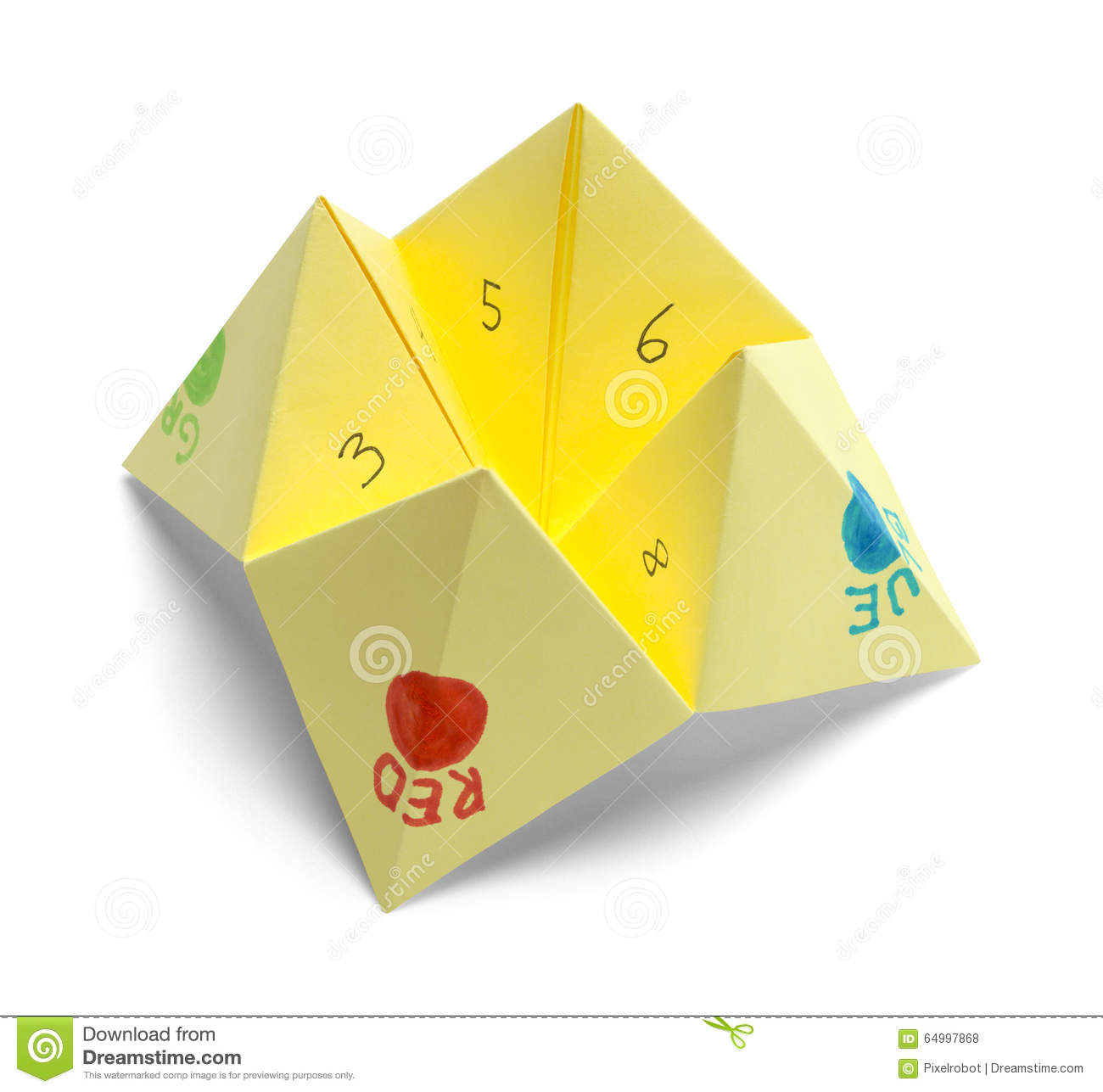 Paper Fortune Teller Stock Photo Image Of Leisure Gypsy 64997868