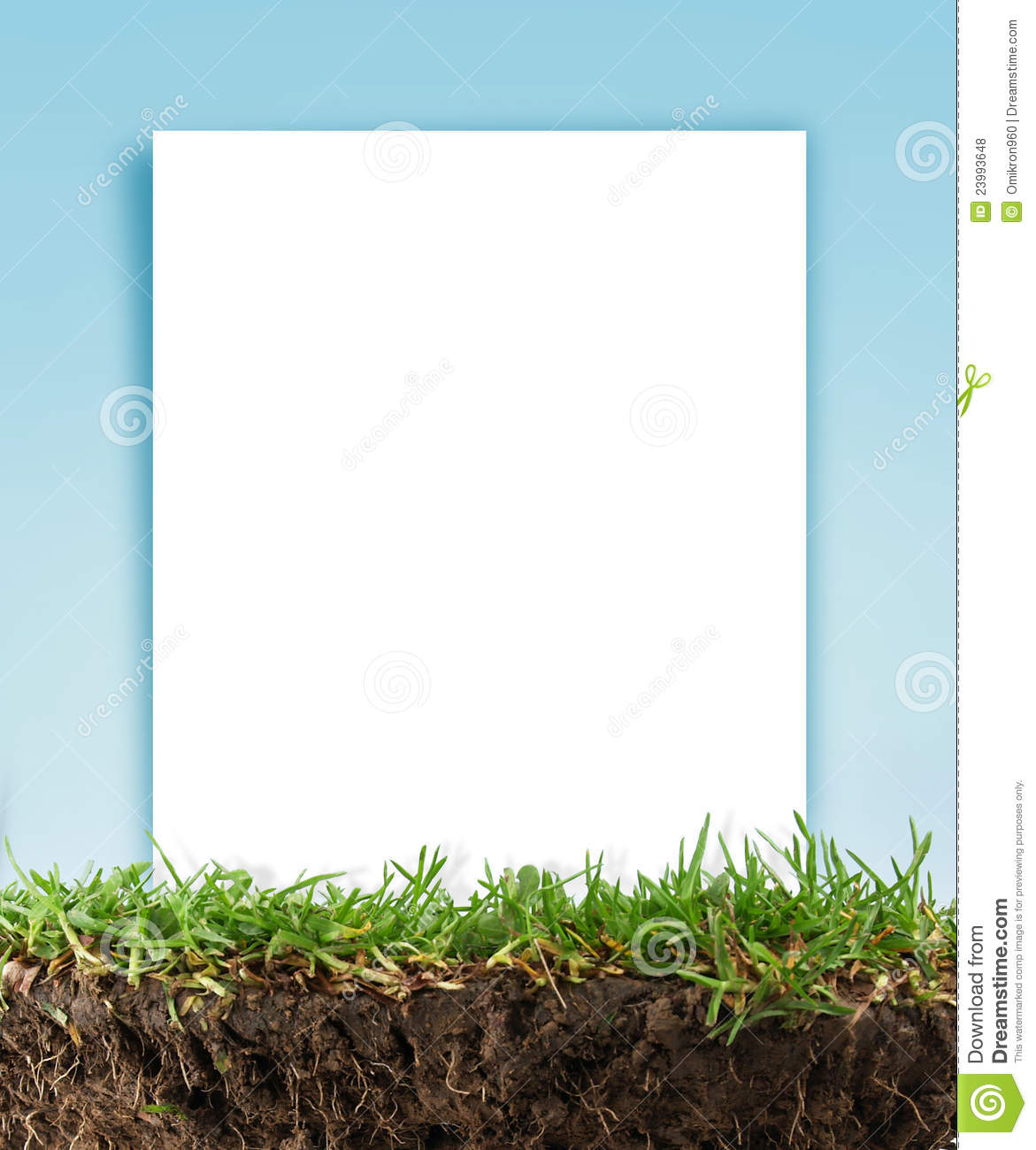 Paper frame in the grass stock photo. Image of send, letter - 23993648