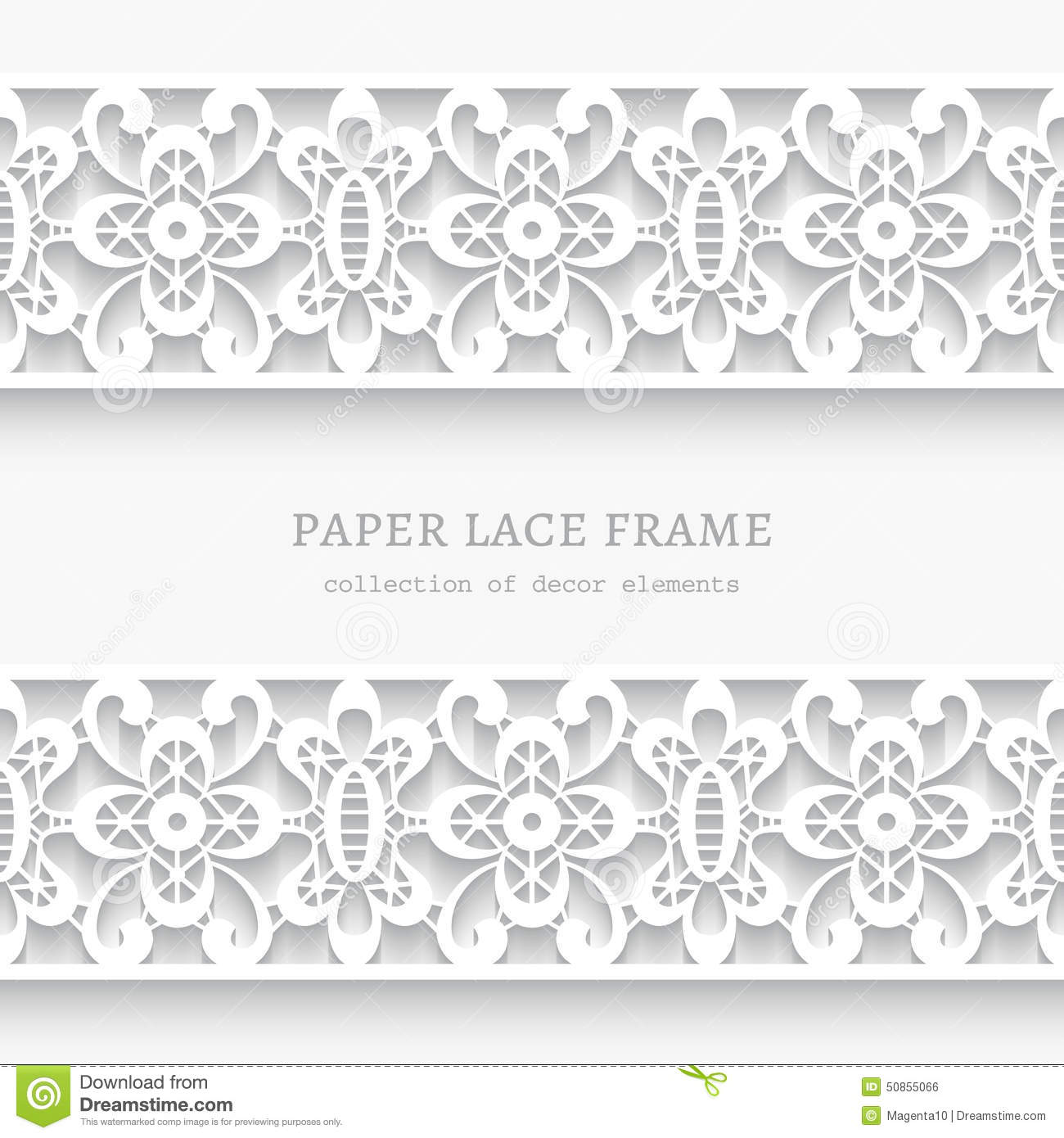 Paper frame with lace borders stock vector image 50855066 for Paper border