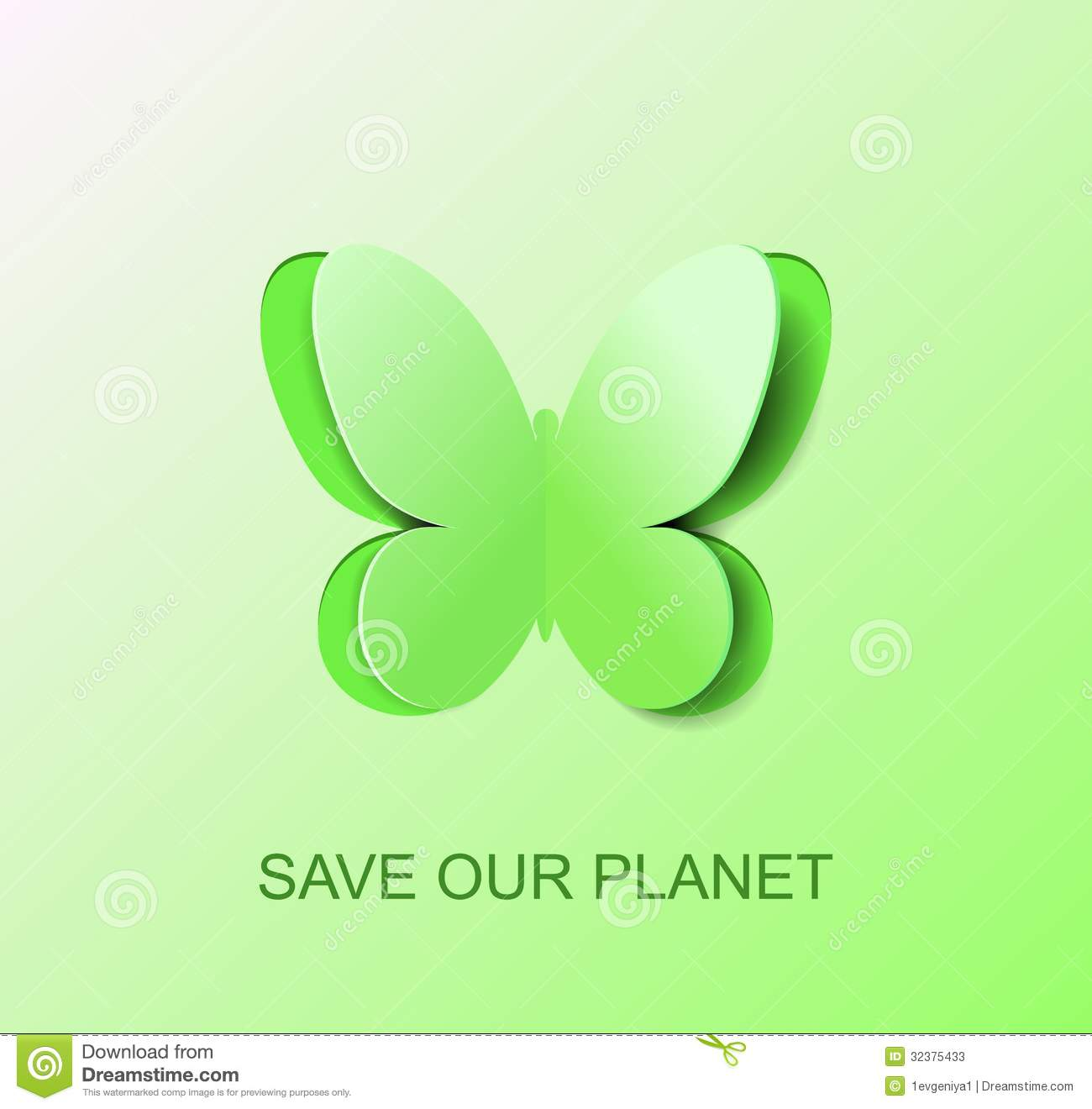 paper green butterfly a symbol of clean environment stock vector  paper green butterfly a symbol of clean environment