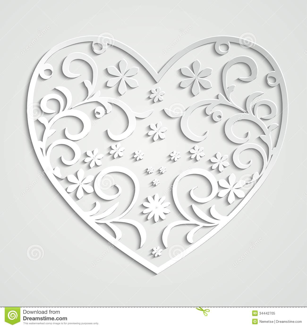 Paper Heart Royalty Free Stock Photo Image 34442705