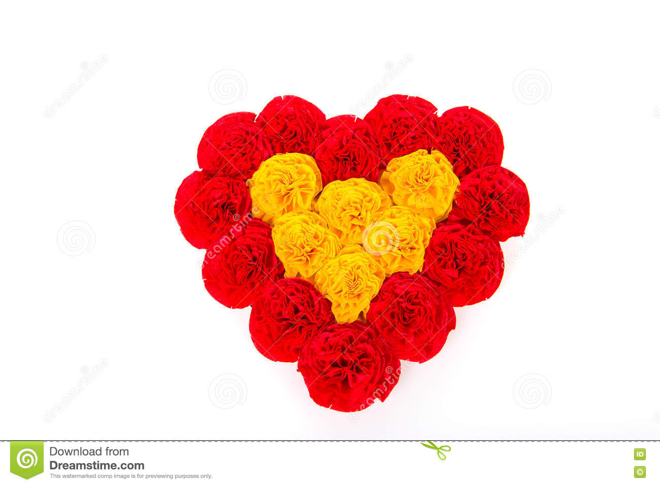 Paper Heart Of Flowers For Valentines Day Stock Image Image Of