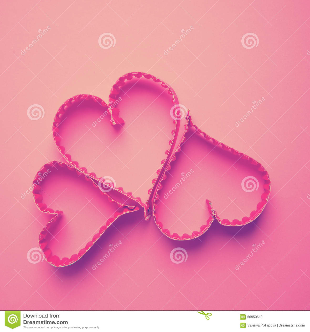 Paper Heart Shape Symbol For Valentines Day Stock Photo Image Of