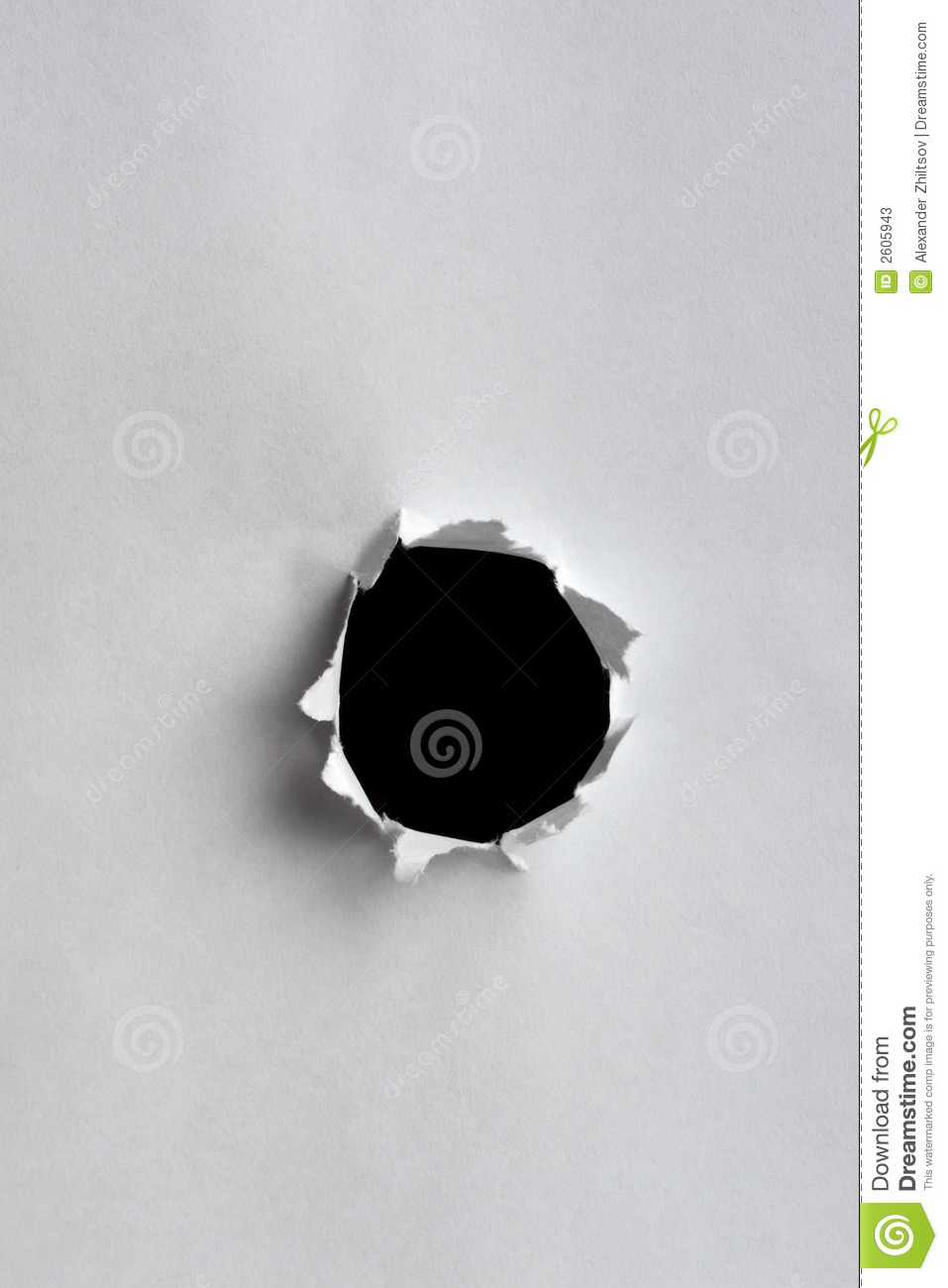 Paper Hole Stock Photos - Image: 2605943