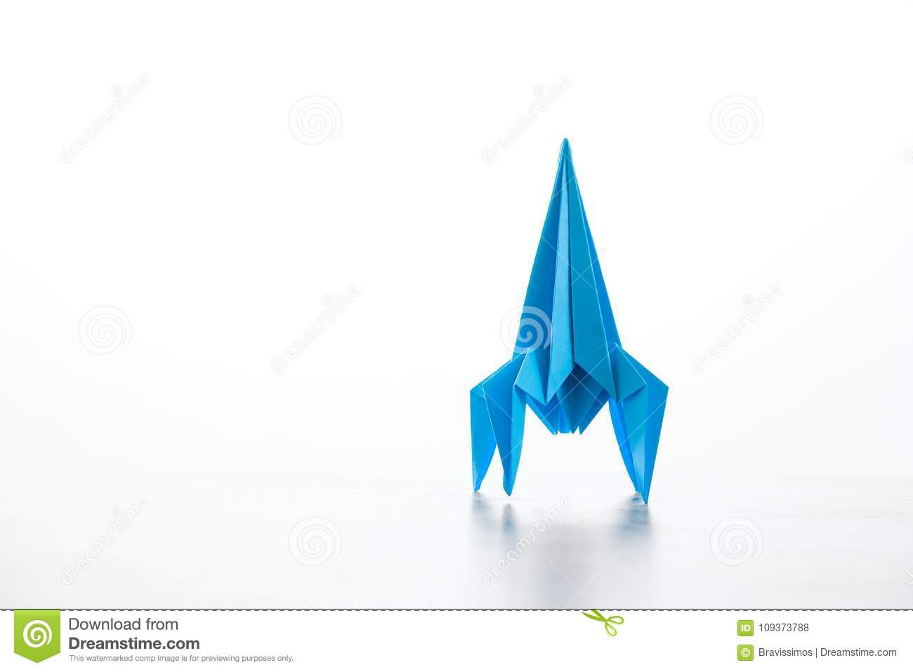 Paper Homemade Origami Rocket Stock Photo Image Of White Launch